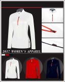 Stampa all'ingrosso della maglietta/maglietta su ordinazione/maglietta lunga di golf per le donne