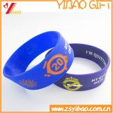 Braccialetto di gomma personalizzato del silicone della fascia della mano di marchio per il regalo