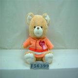 Mini urso pequeno feito sob encomenda enchido amarelo bonito da peluche da roupa