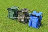Camping portátil silla plegable con bolsa de pesca al aire libre