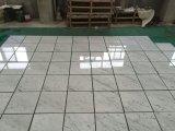 Полированный Cararra белые мраморные плитки и мраморным полом&Walling место на кухонном столе