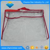Bouton Custom Snap sac en plastique transparent de vêtement en PVC avec poignée