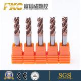 HRC55 de stevige Vierkante van de Micro- van het Carbide Snijder Molen van het Eind