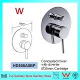 La porcelaine sanitaire approuvé de filigrane Salle de bains dissimulé Showr mélangeur en laiton (HD508A5BP)