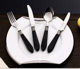 Poignée en acrylique noir résistant Ensemble de couteaux