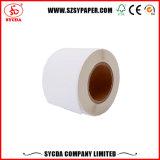 Papel adhesivo de papel térmico de color blanco Papel autoadhesivo