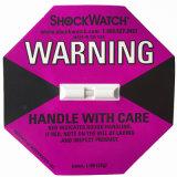 escritura de la etiqueta y etiqueta engomada del Shockwatch de 98X98m m