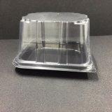 Caixa de bolo de plástico descartáveis contentor SGS/aprovação da FDA