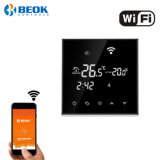 Pantalla táctil WiFi inalámbrico Smart room termostato para la calefacción de agua