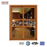 I portelli scorrevoli di alluminio del rivestimento di legno del grano 3D facili puliscono per l'interiore della Camera
