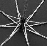 عادة أسود [فيبرغلسّ] صامد للريح إطار 3 يطوي مظلة