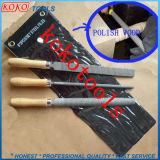 3PCS деревянной ручкой экономики синий пластиковый пакет стали набор файлов