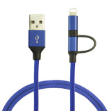 Высокая экономичных 2 в 1 Джинсы USB-кабель передачи данных для Android для iPhone