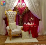 나무로 되는 임금을 꾸미는 Throne Chair Hly-Sf56 결혼 사건 사치품