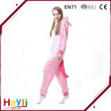 Pigiami adulti svegli di inverno di Cosplay del nuovo di arrivo di alta qualità unicorno di colore rosa per le donne