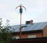 Piccolo generatore di vento verticale domestico di uso 200W 12V/24V