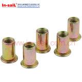 Noix de rivet moletée par tête plate automatique de pièces de rechange avec le trou