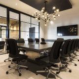 O produto de escritório o mais atrasado vende por atacado a tabela de conferência Shaped retangular de Korian do hotel preto