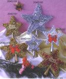 WeihnachtenPendent Verzierung-Baum Oberseiten-Sterne (204D159-204D165)
