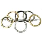 Anello rotondo del metallo d'acciaio placcato oro