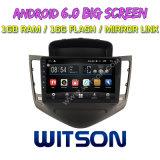 """Witson grande ecrã de 9"""" com sistema Android 6.0 aluguer de DVD para Chevrolet Cruze Clássico"""