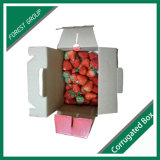 As caixas de acondicionamento para os morangos frescos