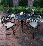 5PC Calssicの庭棒一定の鋳造アルミの家具