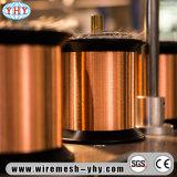 Alambre de cobre amarillo de cobre del acoplamiento en bobinas plásticas