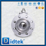 Válvula de esfera de alta pressão da flutuação do aço inoxidável A105 da alavanca de Didtek