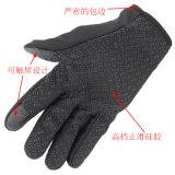 1 par 3 guantes de nylon impermeables al aire libre calientes suaves durables unisex del esquí del guante del esquí de las mujeres de los hombres de colores que acampan que van de excursión con el cierre relámpago