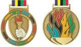 Подгонянное античное медаль металла спорта меди серебра золота