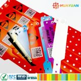 MIFARE標準的な1K混合のプラスチック使い捨て可能なRFIDのリスト・ストラップ