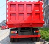 반 80ton 100ton 3 차축 덤프 팁 주는 사람 트레일러 트럭 트레일러