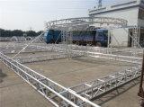 Exposición de la armadura de la publicidad de la armadura de techo curvo de aluminio 400*400mm