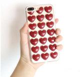 Gevallen van de Telefoon van de Cel van Bling de Leuke met 3D liefde-Harten Patroon