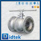 Vávula de bola portuaria reducida Wcb de flotación de la clase de Didtek 150 en refinería