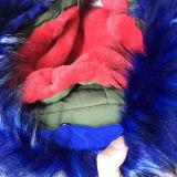 赤い毛皮のライニングSy-1820が付いている新しいデザイン方法女性のジャケット