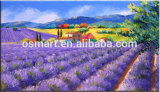 Home를 위한 Small Village를 가진 팔라틴 Paintings에 있는 Knife Beautiful Lavender Modern Flower Oil Paintings Mountain Landscape Lavender를 가진 현대 Paintings