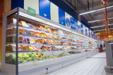 Supermarkt Gekoelde Ijskast met het Gordijn van de Lucht voor Vertoning van Vruchten en Groenten