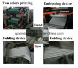 Fábrica de máquina de papel plegable automática de la servilleta que graba