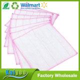 Esfolie a pele facial de fibra de bambu Washcloth Exfoliator pano de cozinha panos de prato