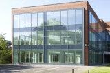 Projet commercial évalué par feu double vitrage rideau en aluminium mur façade