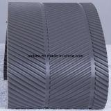 Bandes transporteuses à motifs Fishbone gris en PVC pour le processus du bois