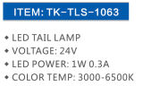 Indicatore luminoso incandescente Tk Tls-1063 del LED