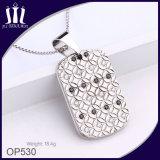 Шкентель бирки Inlay диаманта МНОГОТОЧИЯ цветка Op530