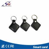 Hf 13.56MHz Mf 1 S50 RFID Keyfob de couro