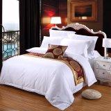 高品質の高貴な固体白いヒルトンホテルの寝具セット