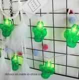 LED de 10 de la luz de la cadena de Cactus