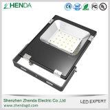 Projector ao ar livre do diodo emissor de luz do alumínio 20watt das aletas do calor