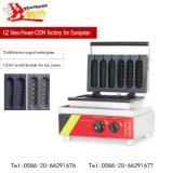 Populärer 2 Form-Hotdog-Waffel-Hersteller/Waffel-Stock-Hersteller für Lebesmittelanschaffung-Gerät